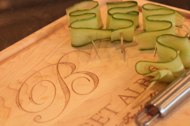 Cucumber ribbons!